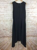 Black Label by Chico's Womens Sleeveless Black Dress Size 2 Large