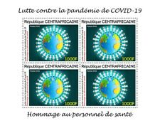 More details for central african rep medical stamps 2020 mnh corona health workers 4v m/s
