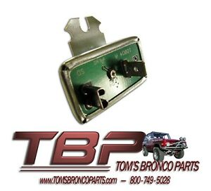 1966-1977 Early Ford Bronco Electronic Instrument Cluster Voltage Regulator