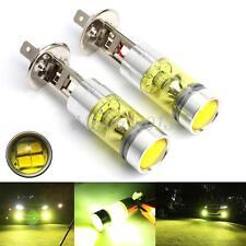 2X 4300K Golden Yellow Projector Head Fog Driving CREE LED Light H1 Bulb 100W
