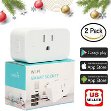 2Pack Smart Plug Wifi Switch Wireless Socket Outlet Voice Control For Alexa Echo