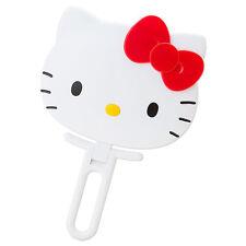 Hello Kitty Face shaped hand Mirror folding white ❤ Sanrio Japan