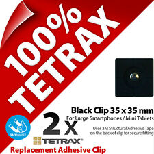 2 x Tetrax Replacement Adhesive Clip 35 x 35 mm Black (For use with Holder)