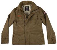 Superdry Men's Size LARGE Classic Rookie Jacket - Military Khaki Genuine