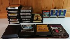 Vintage Atari 2600 7800 Colecovision 130xe 400/800 Game Lot Of 20 Games