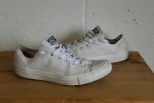 WHITE CANVAS CONVERSE CHUCK TAYLOR ALL STAR TRAINERS SIZE 8 WORN CONDITION