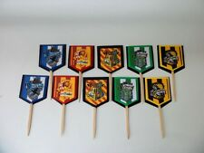 Harry Potter Cupcake Toppers. Cake decor. Favor Tags ,party favor, SET OF 10
