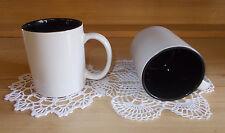 KAFFEE TASSE IN WEISS INNEN SCHWARZ   ( SUBLIMATIONSDRUCK )