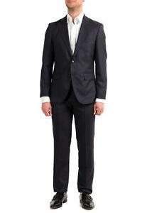 """Hugo Boss Men's """"Johnstons5/Lenon1"""" Regular Fit Blue 100% Wool Two Button Suit"""
