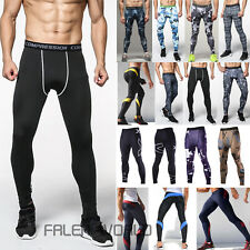 Herren Kompression Hose Trainingshose Tight Sporthose Laufen Fitness Leggings DE
