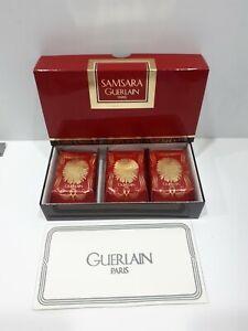 """"""" SAMSARA de GUERLAIN - Paris """" Soap Saponi Parfumè 100gr. x 3 -Vintage"""