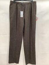 BRUNO SAINT HILAIRE Ladies Brown Trousers UK18 EU46 BNWT RRP£139