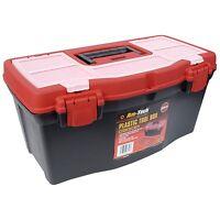 "AMTECH 19"" TOOL BOX WITH HANDLE TRAY DIY STORAGE PLASTIC TOOLBOX  ORGANISER BOX"