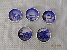 Royal Copenhagen Lot Set of 5 Vintage Miniature Plates Denmark