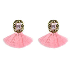 Fashion Rhinestone Long Tassel Dangle Earrings for Women Lady Thread Fringe Drop