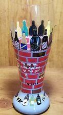 "Lolita Hand Painted 99 Bottles Of Beer Pilsner 9"" Tall  Beer Glass"
