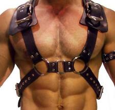 Male Gay Buckle Leather Bondage Body Chest Harness Strap Belt Brace Costumes Sex