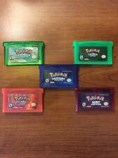 Pokemon GBA/SP/DS Lot Of 5 - Emerald Ruby Sapphire Firered LeafGreen