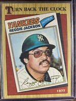 Reggie Jackson Baseball Card #312 Topps New York Yankees MLB HOF Free Ship NM-MT