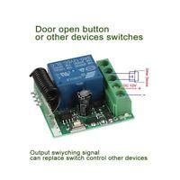 433 MHZ Relais DC12V 10A 1CH Wireless RF Fernbedienung Schalter Empfänger Mode.