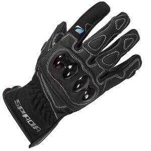 Spada Leather Motorcycle Gloves Moto Black Medium