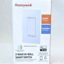 Honeywell Z-Wave In-Wall Smart Switch ZW4008 White and Light Almond Included