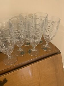 """SHANNON GODINGER SOUTH BEACH COLLECTION """"PALM"""" 6 ICED BEVERAGE GLASSES NWT"""