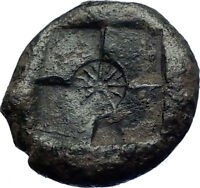 SYRACUSE in SICILY 405BC Ancient Greek Coin Euainetos Signed NYMPH STAR i73827