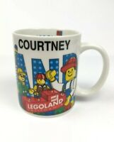 "Legoland California Personalized ""Courtney"" Mug Cup Lego Blocks Figures"