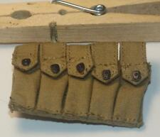 """DID BRYON 5 CELL AMMO POUCH THOMPSON CLOTH   12"""" FIG"""