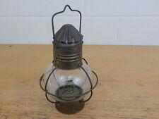 Vintage Copper & Brass Hanging Ships Onion Lamp Light Nautical Maritime Marine