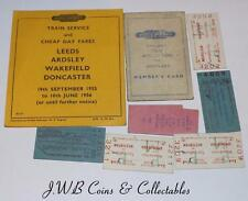 Small Lot Of Vintage Railway Memorabilia Tickets Etc.