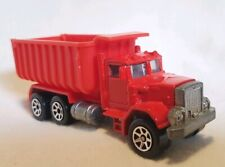 1979 Vintage Hot Wheels PETERBILT DUMP TRUCK, WORKHORSES, [Red], LOOSE. Mint