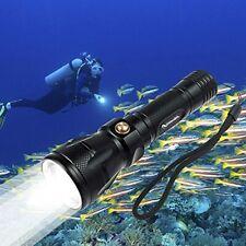 1200LM Cree Xml-L2 Scuba Dive Diving LED Flashlight Torch 100m Underwater Black