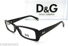 Authentic D&G Dolce&Gabbana Black Eyeglass Frame Rx DD 1193 - 501 *NEW*  50mm