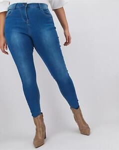 New Ladies Plus Size Jeggings Spandex High Waist Pant Navy Grey 20 to 32 Uk Size