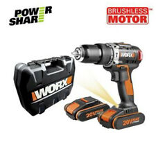 WORX Cordless 20v Brushless WX367 Hammer Drill With 1 X 1.5ah Battery