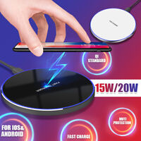 20 Qi ireless Fast Charging Pad Metal Charger For iPhone Cell Phone