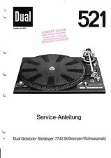 Service Manual instructions for Dual 521