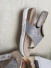 SUPERGA Women's sandals silver color size 40 wedge Sandali Donna argento zeppa