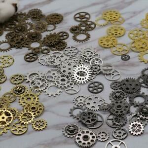 100pcs Retro Gear Accessories Metal Jewelry Cogs Gears Craft Watches Parts