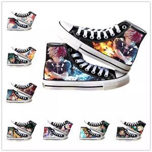 Anime Katsuki Canvas Shoes My Hero Academia Midoriya Izuku Casual Women Sneakers