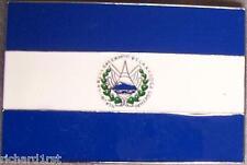 Pewter Belt Buckle National Flag of El Salvador NEW