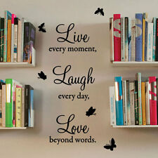 Live Laugh Love Wall Quote Stickers Wall Decals Wall Art decorations Letter