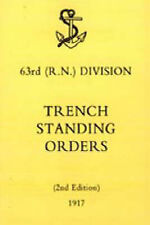 63rd (RN) Division Trench Standing Orders 1917 by N/A (Paperback, 2004)