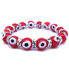 Evil Eye Murano Glass Bead Protection Bracelet in Red