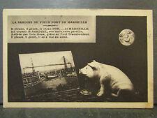 cpa 13 la sardine du vieux port de marseille cochon