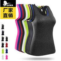 Women's Pro Sport Athletic Vest Sleeveless Shirt Quick Dry Breath Elastic Gym