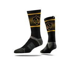 Strideline MLS Los Angeles LA Galaxy Soccer Black Premium Athletic Crew Socks