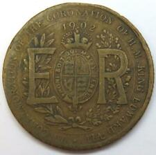 1902 Edward VII Coronation Token / Medallion King & Emperor